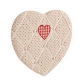 Decoratiune suspendabila pentru perete textil inima Memo Board 43x40 cm