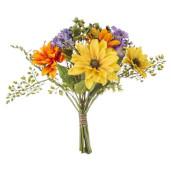 Buchet flori artifciale multicolor 22 cm