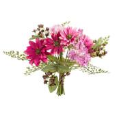 Buchet flori artifciale roz 22 cm