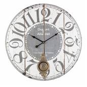 Ceas de perete cu pendul lemn model Dupont 6 cm x ø 58 cm