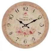 Ceas de perete lemn Roses Ø 29 cm