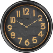 Ceas de perete metal negru maro Ø 41 cm