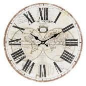 Ceas de perete cu model Glob Pamantesc Ø 34 cm x 4 cm
