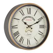 Ceas de perete gri alb auriu model Kensington Ø 29 cm