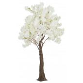 Copac decorativ cu flori artificiale Begonia alb 150 cm x 240h