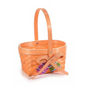 Cos bambus portocaliu decor oua Paste 20 cm x 17 cm x 25 h