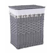 Cos rufe din polyester gri alb 45 cm x 33 cm x 55 h