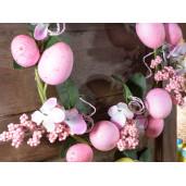 Coronita Paste decorata cu oua roz Ø 29 cm