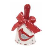 Clopotel din ceramica alba rosie gri model Pasare Ø 5x9 cm
