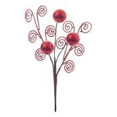 Crenguta cu globuri rosii Lizbeth 10x25 cm