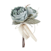 Crenguta artificiala cu 2 trandafiri Ø 7x20 cm