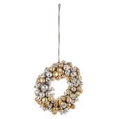 Coronita din globuri sticla aurii argintii Ø 30x12 cm