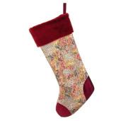 Ciorap Craciun din textil rosu Kaledo 25x52 cm