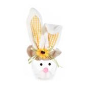 Borcan Paste model Iepuras urechi galbene 9 cm x 23 h