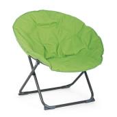Fotoliu pliabil cadru din otel gri si perna textil verde Luna 65 cm x 75 cm x 80 h x 42 h1