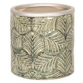 Ghiveci pentru flori ceramica verde Ø 12 cm x 12 H