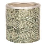 Ghiveci pentru flori din ceramica verde vintage Ø 15 cm x 15 cm