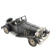 Macheta masina retro cu metal neagra 26x10x10 cm