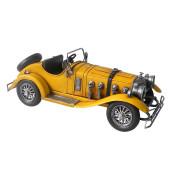 Macheta masina retro metal galben 33 cm x 13 cm x 12 cm