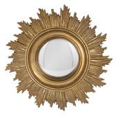 Oglinda decorativa perete rotunda polirasina auriu vintage Ø 18 cm x 2 cm