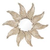 Oglinda decorativa perete polirasina auriu vintage 45 cm x 3 cm