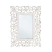 Oglinda decorativa perete cu rama lemn alb vintage Dalila 45 cm x 60 cm