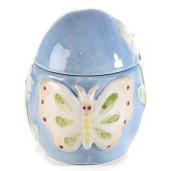 Ou Paste ceramica albastru Ø 7 cm x 9 H
