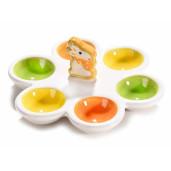Platou Paste Iepuras 6 oua ceramica 17 cm x 15 cm x 7 h
