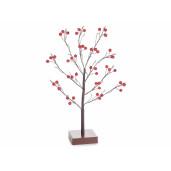 Copac decorativ merisoare cu led Ø 30 cm x 45 H