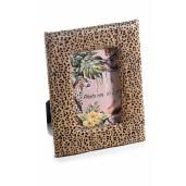 Rama foto de masa textil Animal Print maro cm 17 x  22 H