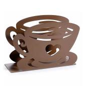 Suport pentru servetele metal maro model Ceasca cm 15 cm x 4 cm x 10 cm