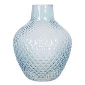 Vaza pentru flori din sticla albastra Ø 16 cm x 20 h