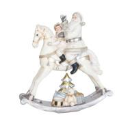 Figurina Mos Craciun polirasina alb 29x10x30 cm