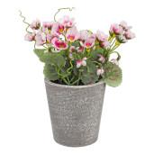 Flori artificiale roz in ghiveci Ø7x16h