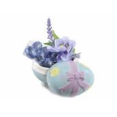 Ou Paste decorativ albastru cu capac 8 cm x 11 cm x 8 h