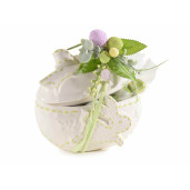 Ou Paste ceramica model Iepuras alb verde cm 16 x 12 cm x 14 H