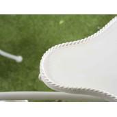 Suport flori cu 5 suporturi ghiveci metal alb model bicicleta cm 155 cm x 49 cm x 105 H
