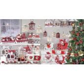 Sanie decorativa Craciun lemn rosie 10 x 20 x 13 H