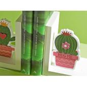 Set suporturi lemn carti Cactus cm 12,5 x 9 x 14 H