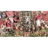 Figurina Mos Craciun rosu cm 42x34x112H