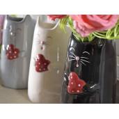 Vaza ceramica neagra model Pisica 10 cm x 16 cm