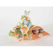 Bol decorativ Iepuras Paste ceramica cm 22 cm x 9 cm x 14 H
