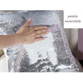 Perna cu paiete reversibile argintii