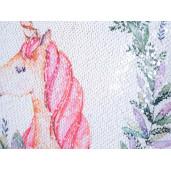 Fata de perna cu paiete reversibile Unicorn cm 40 x 40 H