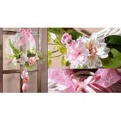 Set 6 oua decorative plastic suspendabile flori roz galben mov verde