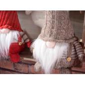 Figurina Spiridus bej textil cm 18x14x35H