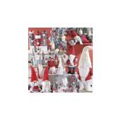 Figurina Spiridus rosu alb cm 33x22x90 H