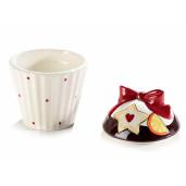 Borcan ceramic decorativ model Briosa Ø 9 cm x 14 H