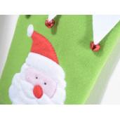 Ciorap decorativ Craciun rosu alb model Mos Craciun 27 cm x 40 H
