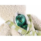 Set cadou cana si figurina Iepuras fundita verde Ø 9 cm x 11 h / 340 ml